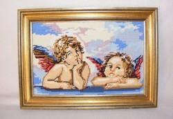 Angyalkás, puttó gobelin kép