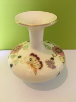 Zsolnay váza virágmintás 8 cm-es - Hibátlan
