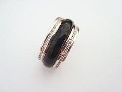 JOOP! ezüst gyűrű onix és cirkónia 15 gr