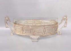 Antik kínáló empire stílusú eredeti üvegbetéttel restaurálni kell!
