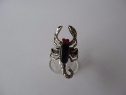 Ezüst skorpió gyűrű