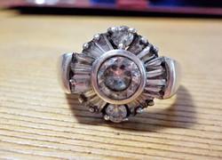 Mesés cirkónia köves ezüst gyűrű