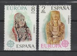 EUROPA-CEPT Spanyolország 1974 postatisztán (Kat.: 1,50 Euro) (158)