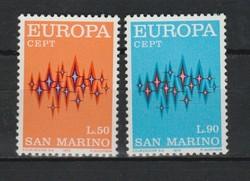 EUROPA-CEPT San Marino 1972 postatisztán (Kat.: 0,80 Euro) (171)