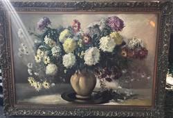 Óriási méretű Benczúr Ida festmény