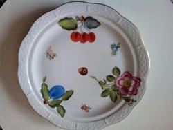 Herendi gyümölcsmintás süteményes tányér