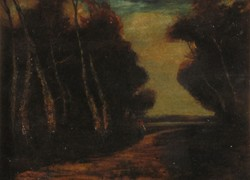 Európai művész XIX. század : Erdei úton