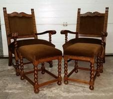 ÚJSZERŰ állapotban eladó 2 db Koloniál fotel és 2 db puff