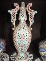 Áttört váza - Fischer Ignácz munkája
