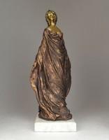 0N983 Jelzett Debreczeni Pelcz kerámia szobor 32cm
