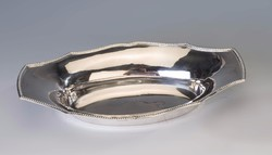 Ezüst art deco gyöngydekoros kínáló
