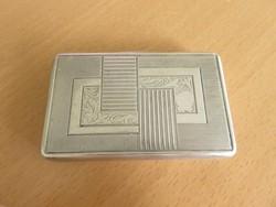 Magyar ezüst Art-deco szelence, cigaretta tárca