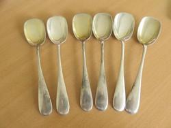 6db ezüst fagylaltos kanál aranyozott merítővel