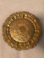 Meisseni aranyozott tányér.