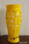 Sárga sav maratott váza 1930-as évekből