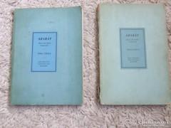 Ararát -magyar zsidó évkönyv ,1943,1944 kiadás