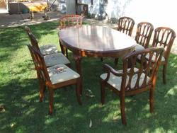 Bővíthető asztal 8db székkel étkező garnitúra