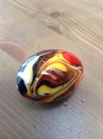 Régi Muranoi üveg kézműves tojás dísz