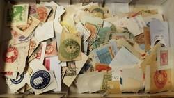 1860-as évektől benyomott díjjegyesek sok régivel egész világ magyarral