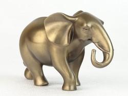 0O005 Fém hatású jelzett elefánt szobor