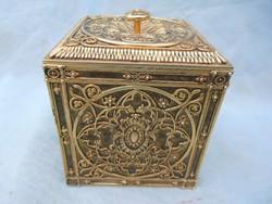 Réz ékszeres,kincses doboz.Gyönyörű darab.