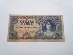 500 Pengő 1945-ös   bankjegy!
