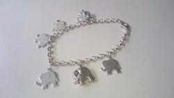 Ezüst karlánc kis elefántokkal 925.