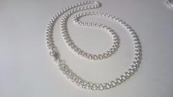 Ezüst nyaklánc érdekes sűrű szövésű gyönyörű hibátlan darab 925