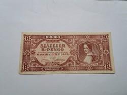Százezer B.-Pengő 1946-os   bankjegy!