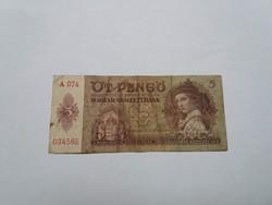 5 Pengő 1939-es   bankjegy!