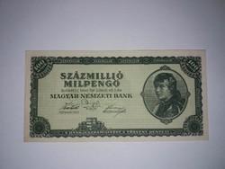 100 Millió Milpengő  1946-os  UNC  bankjegy !!