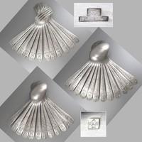 Vintage-Francia Christofle ezüstözött evőeszköz készlet