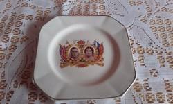 Koronázási emlék tányér