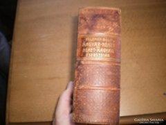 100 éves német-magyar, magyar-német szótár.