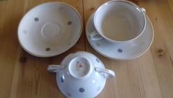 2 szemelyes teas, leveses  ketfules csesze