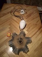 Antik , porcelán csigás lámpa