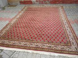 Gyapjú,perzsa szőnyeg.Kézi csomózású.250X350cm.Kifogástalan..Tiszta.