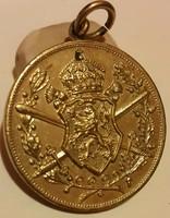 Bulgária1933-1939.'Európai Háborús Emlékérem1915-1918' aranyozott bronz kitüntetés,mellszalag nélkül