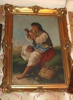 Cigány lány olaj vászon