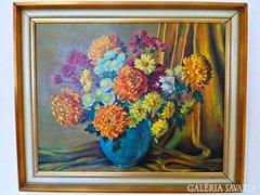 Keresztesi Sándor szignóval virág csendélet eladó