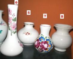 Hasas kerámia váza, **No.8**  Fehér mázas 8,5 cm