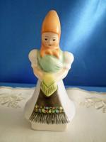 Bodrogkeresztúri kerámia Matyó ruhás nő 11 cm magas