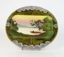 0N159 Antik Körmöcbányai majolika tányér 26.5 cm