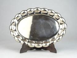 0N613 Antik jelzett hólyagos ezüst tálca 78 g