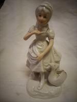 """Ritka porcelán szobor """" Libás kislány"""" hibátlan"""