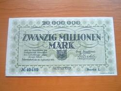 NÉMET BIRODALOM 20 MILLIÓ MÁRKA 1923 SCHWEINFURT