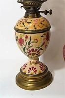 ZSOLNAY LAMPA HIBATLAN 1875-82 RITKA 59 CM