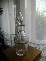 Antik metszett, csiszolt, vájt üveg butélia