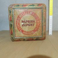 """""""Leopold Reitzer & Co. Szeged Hungary Paprika Export"""" paprikás fémdoboz"""