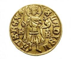 Albert (1437-1439) aranyforint K-R, kereszt ( ritka !! )
